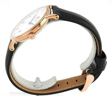 DanielWellingtonダニエルウェリントンDapperダッパー34mmカレンダーレディース腕時計レザー革ベルトバンドブラック黒ピンクゴールド1131DW海外モデル