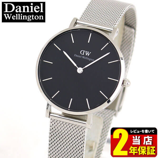 腕時計, レディース腕時計 Daniel Wellington CLASSIC PETITE STERLING BLACK DW00100162