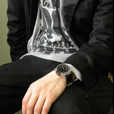 【楽天スーパーセール】DIESELディーゼルDZ1295アナログメンズ腕時計男性用時計ウォッチカジュアルレザー黒ブラック新品黄色イエロー海外モデル【楽ギフ_包装】【あす楽対応】【あす楽_土曜営業】クリスマス【P06Dec14】