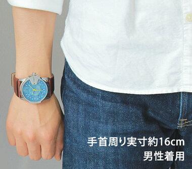 ディーゼル時計アナログDIESELメンズ腕時計新品男性用カレンダー青ブルーイエロー茶色ブラウンレザーDZ1399海外モデル【楽ギフ_包装】