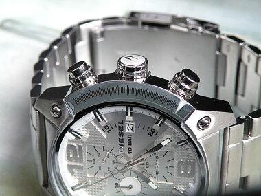 ディーゼル時計DIESELメンズ腕時計新品DIESELDZ4203海外モデルDIESELOVERFLOWオーバーフローシルバー白クロノグラフDIESELディーゼルホワイトデーP20Feb16