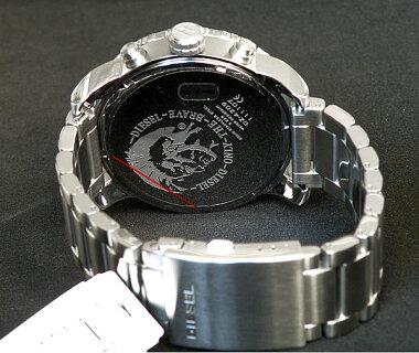 レビューを書いて★送料無料ディーゼル時計メンズDIESEL腕時計新品ディーゼル腕時計新品DZ4209海外モデル新品カジュアルブランドウォッチ人気ブラック文字板メタルバンドビックフェイスクロノグラフシルバーブラック
