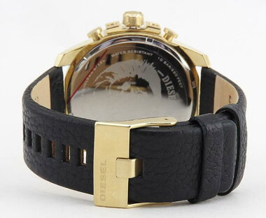 DIESELディーゼルMEGACHIEFメガチーフDZ4344海外モデルメンズ男性用腕時計ウォッチクロノグラフアナログ黒ブラック金ゴールド