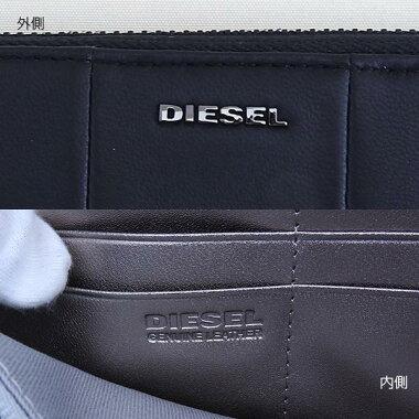 DIESELディーゼルX03069-PR472-T8013メンズ長財布ウォレット黒ブラック