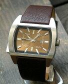 ディーゼル 時計 アナログ DIESEL 時計 おしゃれ ブランド DZ1114 メンズ 腕時計 watch DIESEL ディーゼル 文字板ブラウン 濃茶レザーバンド ベルト海外モデル 誕生日プレゼント 男性