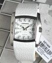 ★送料無料 ディーゼル 時計 おしゃれ ブランド 腕時計 DIESEL DZ1406 メンズ レディース 男女兼用 白 ホワイト レザー ベルト 海外モデル 誕生日プレゼント 男性 女性 ギフト