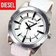 DZ1599 海外モデル【DIESEL】ディーゼルカジュアル レザー 白 ホワイト【GOOD COMPANY】グッドカンパニー メンズ 腕時計 watchユニセックス 時計