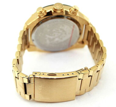 ★送料無料DIESELディーゼルOverflowオーバーフローDZ4342海外モデルメンズ腕時計ウォッチメタルバンドクロノグラフクオーツアナログ黒ブラック金ゴールド