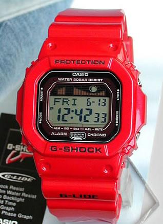 商品到着後レビューを書いて3年保証 CASIO カシオ G-SHOCK Gショック ジーショック メンズ レディース 腕時計 G-LIDE ORIGIN デジタル スクエア GLX-5600-4 海外モデル G-SHOCK Gショック ジーショック 赤 レッド