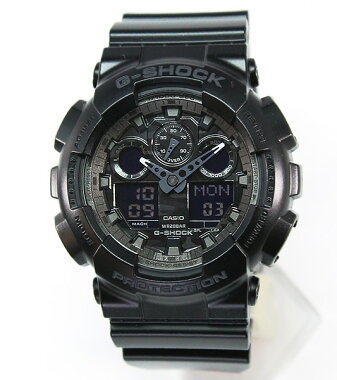 CASIOカシオG-SHOCKGショックメンズ腕時計新品男性用時計ウォッチカジュアルGA-100CF-1Aブラック海外モデルカモフラージュ【楽ギフ_包装】ホワイトデー