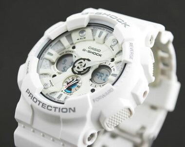 BOX訳あり商品到着後レビューを書いて3年保証CASIOカシオG-SHOCKGショックジーショックgshockGA-120A-7A海外モデル腕時計メンズ時計多機能防水カジュアルウォッチアナログアナデジG-SHOCKGショックホワイト白スポーツ誕生日ギフト