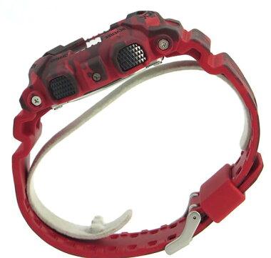 CASIOカシオG-SHOCKGショックジーショックGSHOCKGA-100CM-4A海外モデルメンズ男性用腕時計新品時計ウォッチクオーツデジタル赤レッド