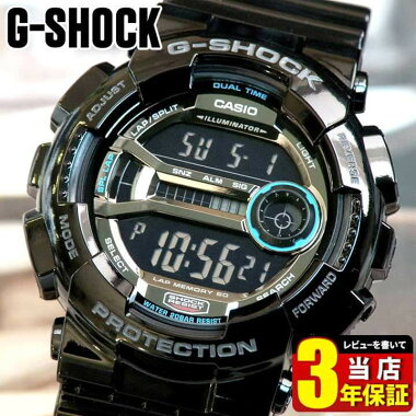 カシオ【CASIO】G-SHOCKGD-110-1ブラック【Gショック】L-SPEC【Lスペック】高輝度LEDバックライト海外モデルメンズ腕時計男性用時計ウォッチ【楽ギフ_包装】
