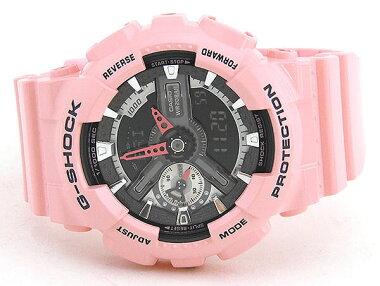 CASIOカシオG-SHOCKGショックGMA-S110MP-4A2海外モデルレディース女性用腕時計ウォッチウレタンバンドクオーツカジュアルアナログデジタルピンク