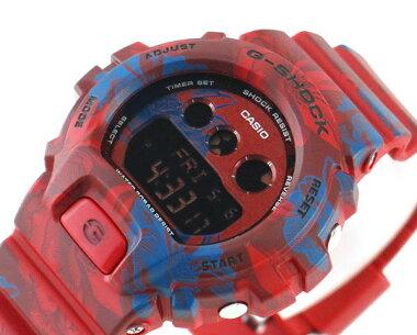 レビュー3年保証GMD-S6900F-4CASIOカシオG-SHOCKジーショックユニセックス海外モデルウレタンバンド多機能赤レッド