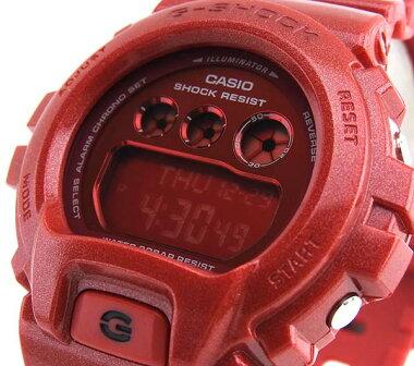 CASIOカシオG-SHOCKジーショックSシリーズGMD-S6900SM-4海外モデルメンズ男性用腕時計ウォッチデジタル赤レッド