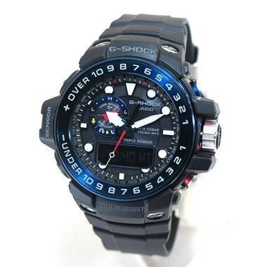 レビューを書いて3年保証CASIOカシオGショックG-SHOCKGULFMASTERガルフマスターGWN-1000B-1Bメンズ腕時計海外モデル男性用時計ウォッチ電波ソーラーブラック黒