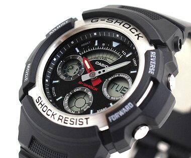 BOX訳あり商品到着後レビューを書いて3年保証CASIOカシオG-SHOCKGショックジーショックgshockメンズ腕時計時計アナログアナデジAW-590-1A海外モデルスポーツ誕生日プレゼントギフト