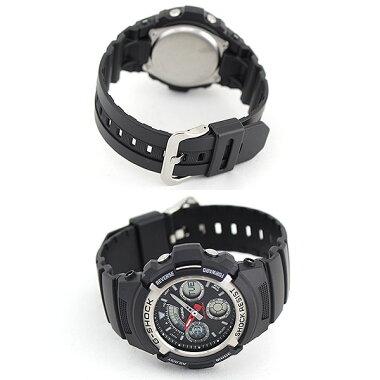 BOX訳あり商品到着後レビューを書いて3年保証CASIOカシオG-SHOCKGショックジーショックgshockメンズ腕時計時計アナログアナデジAW-590-1A海外モデルスポーツ誕生日プレゼント父の日ギフト