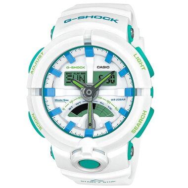 ★送料無料CASIOカシオG-SHOCKジーショックGA-500WG-7AJF国内正規品メンズ腕時計ウォッチウレタンバンド多機能クオーツランニングスポーツカジュアルアナログデジタル白ホワイト青ブルー