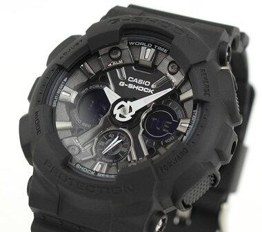 CASIOカシオG-SHOCKジーショックGMA-S120MF-1A海外モデルメンズレディース腕時計ウレタンバンドクオーツアナログ黒ブラック