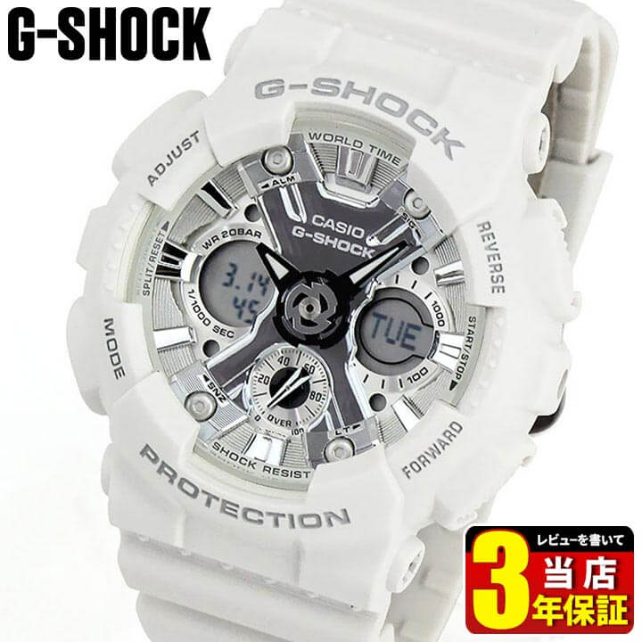 CASIO G-SHOCK white CASIO G-SHOCK G GMA-S120MF-7...