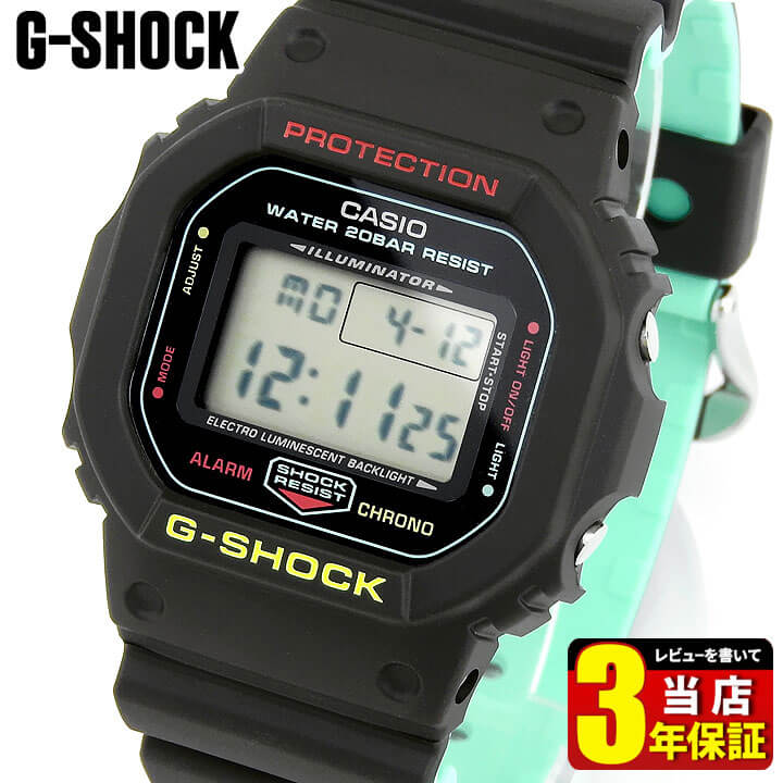 腕時計, メンズ腕時計 CASIO G-SHOCK G Breezy Rasta Color DW-5600CMB-1