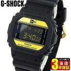 CASIOカシオG-SHOCKGショックジーショックDW-5600NE-1メンズ腕時計デジタル黒ブラック金ゴールド35周年ニューエラコラボモデル誕生日プレゼント男性ギフト海外モデル