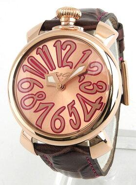 ★送料無料GAGAMILANOガガミラノMANUALE40MMマヌアーレ40mm5021-8海外モデルレディース女性用腕時計ウォッチ革バンドレザー茶ブラウン金ピンクゴールド