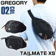 ★送料無料 GREGORY グレゴリー TAILMATE XS テールメイト XS 65233-1041 652331041 海外モデル ナイロン メンズ バッグ 鞄 ボディバッグ ウエストポーチ BLACK 黒 ブラック