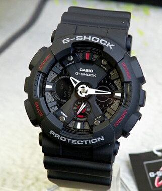 【CASIO】カシオ【G-SHOCK】GショックGA-120-1Aブラック×レッドアナデジコンビネーション迫力のあるビッグフェイスメカニカルなデザイン【腕時計】【楽ギフ_包装】メンズ腕時計【父の日】
