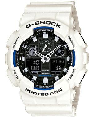 CASIOカシオG-SHOCKGショックGA-100B-7AJFホワイト白国内正規品アナデジメンズ腕時計時計ウォッチホワイトデー
