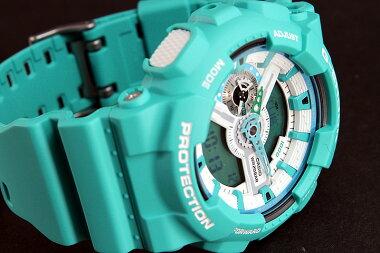 【BOX訳あり特価】CASIOカシオG-SHOCKGショックメンズ腕時計時計GA-110SN-3A海外モデルBreezyColorsブリージーカラーズビッグケース【smtb-KD】【RCP】