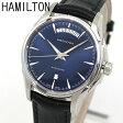 ★送料無料 HAMILTON ハミルトン ジャズマスター デイデイト H32505741 海外モデル メンズ 腕時計 ウォッチ 革バンド レザー 機械式 メカニカル 自動巻き 黒 ブラック 青 ネイビー