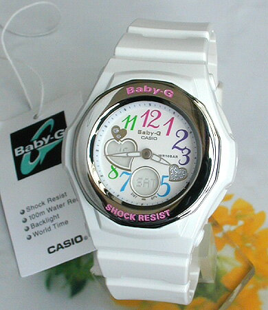 CASIO カシオ Baby-G ベビーG ベイビージー BGA-101-7B 海外モデル 白 ホワイト アナログ レディー...