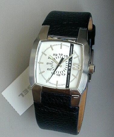 ディーゼル 時計 腕時計 watchDIESEL DZ1091ブラックレザー ディーゼルロゴ入りライン...