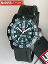 LUMINOX ルミノックス Navy SEALs ネイビーシールズ ダイブ カラーマークシリーズ ラバー ベルト No.7053 ブルーインデックスT25表記あり 海外モデル/ミリタリー レディース 腕時計 時計 誕生日プレゼント 女性 ギフト