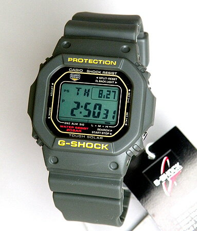CASIO カシオ 防水 腕時計 時計 メンズ G-SHOCK海外モデル タフソーラーを搭載 G-5600A-3DR人気の5...