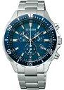 シチズン CITIZEN VO10-6772F エコドライブ 腕時計 メンズ ソーラー ビジネス クロノグラフ シルバー ブルー 銀 青 誕生日プレゼント 男性 ギフト