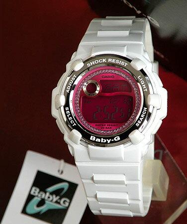 CASIOカシオBaby-GベビーG ベイビージーReefリーフBG-3000M-7DRホワイト×ピンク反転液晶 レディー...