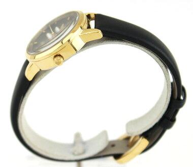 KateSpadeケイトスペードMETROMINIメトロミニKSW1085海外モデルレディース腕時計ウォッチ革バンドレザークオーツアナログ黒ブラック金ゴールド