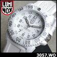 ★送料無料 LUMINOX ルミノックス LUMINOX ネイビーシールズ WHITEOUT 3050系LUMINOX 3057.WO ホワイトアウト メンズ 腕時計 ベルト ミリタリーウォッチ 時計 白