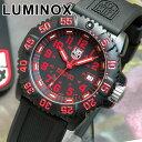 LUMINOX ルミノックス Navy SEALs ネイビーシールズ ラバー ベルト 3050シリーズ No.3065 カラーマークシリーズ レッド 赤 海外モデルミリタリー メンズ 腕時計 時計 誕生日プレゼント 男性 バレンタイン ギフト
