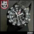 ★送料無料 LUMINOX ルミノックス3081 クロノグラフ ブラック ミリタリー メンズ 腕時計