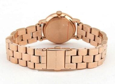 MARCBYMARCJACOBSマークバイマークジェイコブスBakerベイカーMBM3443海外モデルレディース女性用腕時計ウォッチ白ホワイト金ピンクゴールド