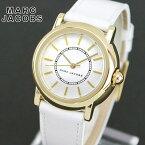 【送料無料】MARC JACOBS マークジェイコブス COURTNEY コートニー MJ1449 海外モデル レディース 腕時計 ウォッチ 革ベルト レザー アナログ 白 ホワイト 金 ゴールド 誕生日プレゼント 女性 ギフト