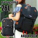Patagoniaパタゴニア47956アーバー・パック26L海外モデルメンズレディースバッグバックパックリュックサックポリエステル黒ブラック大容量通勤通学登山キャンプ