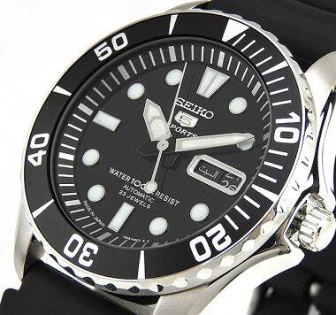 SEIKOセイコーセイコー5SNZF17J2メンズ腕時計ウォッチ機械式メカニカル自動巻き黒ブラック