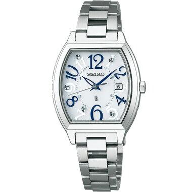 SEIKOセイコーLUKIAルキアSSVW091国内正規品レディース腕時計ウォッチメタルバンド電波ソーラーアナログ青ブルー銀シルバー