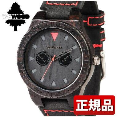 WEWOODウィーウッドLEOTERRABLACK木製9818094メンズ腕時計ウォッチカジュアル赤レッド茶ダークブラウン